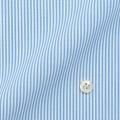 レディースパターンオーダーシャツ(ベーシック) 純綿 形態安定 ライトブルーロンドンストライプ 【S72SKFU24】