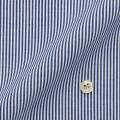 レディースパターンオーダーシャツ(ベーシック) 純綿 形態安定 ネイビーロンドンストライプ 【S72SKFU25】