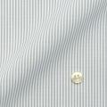 レディースパターンオーダーシャツ(ベーシック) 純綿 形態安定 グレーロンドンストライプ 【S72SKFU26】