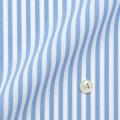 レディースパターンオーダーシャツ(ベーシック) 純綿 形態安定 ライトブルー太ロンドンストライプ 【S72SKFU27】