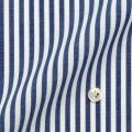 レディースパターンオーダーシャツ(ベーシック) 純綿 形態安定 ネイビー太ロンドンストライプ 【S72SKFU28】