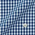 レディースパターンオーダーシャツ(ベーシック) 純綿 形態安定 ネイビーギンガムチェック 【S72SKFU31】