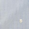 レディースパターンオーダーシャツ(ベーシック) 純綿 白場ブルーストライプ 【S72SKFU64】