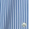 レディースパターンオーダーシャツ(ベーシック) 100番手双糸 ライトブルーロンドンストライプ 【S72SKFW99】