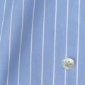 レディースパターンオーダーシャツ(ベーシック) 100双 ライトブルー×ホワイトペンシルストライプ 【S72SKFX02】