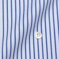 レディースパターンオーダーシャツ(ベーシック) 80双純綿 ツイル白地紺ストライプ 【S72SKFY35】