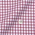 レディースパターンオーダーシャツ(ベーシック) 80番手双糸 白×ワインレッドグラフチェック 【S72SKFY44】