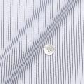 レディースパターンオーダーシャツ(ベーシック) 100番手双糸 ブラックペンシルストライプ 【S72SKFY48】