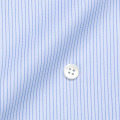 レディースパターンオーダーシャツ(ベーシック) 100番手双糸 ブルーペンシルストライプ 【S72SKFY49】