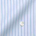 レディースパターンオーダーシャツ(ベーシック) 100番手双糸 ライトブルーストライプ 【S72SKFY53】