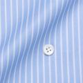 レディースパターンオーダーシャツ(ベーシック) 100番手双糸 ライトブルーストライプ 【S72SKFY61】