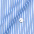レディースパターンオーダーシャツ(ベーシック) 100番手双糸 ブルーストライプ 【S72SKFY62】