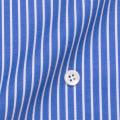 レディースパターンオーダーシャツ(ベーシック) 100番手双糸 ネイビーストライプ 【S72SKFY63】