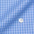 レディースパターンオーダーシャツ(ベーシック) 100番手双糸 ブルーチェック 【S72SKFY67】