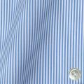 レディースパターンオーダーシャツ(ベーシック) 平織りライトブルーロンドンストライプ 【S72SKFY71】