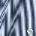 レディースパターンオーダーシャツ(ベーシック) 平織りネイビーブルーロンドンストライプ 【S72SKFY73】