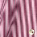 レディースパターンオーダーシャツ(ベーシック) 平織りワインレッドロンドンストライプ 【S72SKFY76】