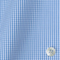 レディースパターンオーダーシャツ(ベーシック) 平織りライトブルーミニギンガムチェック 【S72SKFY78】