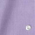 レディースパターンオーダーシャツ(ベーシック) 平織りパープルミニギンガムチェック 【S72SKFY82】