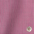 レディースパターンオーダーシャツ(ベーシック) 平織りワインレッドミニギンガムチェック 【S72SKFY83】