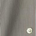 レディースパターンオーダーシャツ(ベーシック) 平織りブラウンロンドンストライプ 【S72SKFY87】