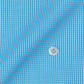レディースパターンオーダーシャツ(ベーシック) 平織りターコイズミニギンガムチェック 【S72SKFY91】