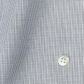 レディースパターンオーダーシャツ(ベーシック) 純綿 ブラックマイクロチェック 【S72SKFZ09】