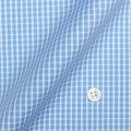 レディースパターンオーダーシャツ(ベーシック) 純綿 形態安定 ライトブルー×ホワイトグラフチェック 【S72SKFZ78】