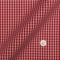 レディースパターンオーダーシャツ(ベーシック) 純綿 形態安定 レッド×ホワイトグラフチェック 【S72SKFZ80】