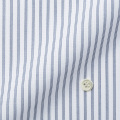 レディースパターンオーダーシャツ(デザイン) ホワイト×ネイビードビーストライプ 【S73SKFDC1】