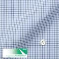 レディースパターンオーダーシャツ(デザイン) スパーノ.ECO 白地ネイビーグラフチェック柄 【S73SKFEK3】