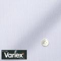 レディースパターンオーダーシャツ(デザイン) Variex ホワイト×パープル濃淡ストライプ 【S73SKFEM4】