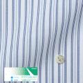レディースパターンオーダーシャツ(デザイン) SPANO.COOL ECO ネイビー系ストライプ 【S73SKFEM8】