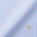 レディースパターンオーダーシャツ(デザイン) 純綿 ライトブルー×ピンク×ホワイトストライプ 【S73SKFF19】