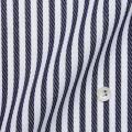 レディースパターンオーダーシャツ(デザイン) 純綿 ホワイトドビー×ネイビードビーストライプ 【S73SKFF46】