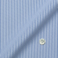 レディースパターンオーダーシャツ(デザイン) トリコットニット ホワイト×ブルー濃淡ストライプ 【S73SKFF90】