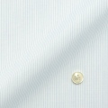 レディースパターンオーダーシャツ(デザイン) 形態安定 白場ライトブルーピンストライプ 【S73SKFT31】
