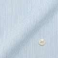 レディースパターンオーダーシャツ(デザイン) 形態安定 白場ブルーピンストライプ 【S73SKFT32】