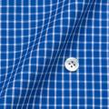 レディースパターンオーダーシャツ(デザイン) 100番手双糸 ネイビーチェック 【S73SKFY68】