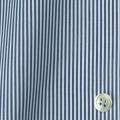 レディースパターンオーダーシャツ(デザイン) 平織りデニムブルーロンドンストライプ 【S73SKFY72】