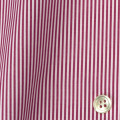 レディースパターンオーダーシャツ(デザイン) 平織りワインレッドロンドンストライプ 【S73SKFY76】