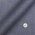 レディースパターンオーダーシャツ(デザイン) 純綿 形態安定 ネイビー千鳥格子柄 【S73SKFZ48】