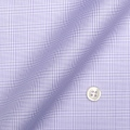 レディースパターンオーダーシャツ(デザイン) 純綿 形態安定 パープルグレンチェック 【S73SKFZ86】