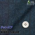 メンズサイズオーダージャッツ ジャケット ハイブリッドセンサー ネイビーチェックプリント 【S74SKJ6J9】