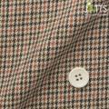 メンズサイズオーダージャッツ ジャケット ウール混 オレンジ系千鳥格子柄 【S74SKJ7A1】