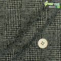 メンズサイズオーダーベスト コットンウール ブラック・ベージュグレンチェック 【S75SKJ792】