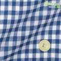 メンズサイズオーダーベスト リネン100% ブルーギンガムチェック 【S75SKJ857】