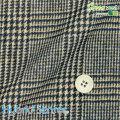 メンズサイズオーダーベスト ハイブリッドセンサー KNIT ベージュ系×ブラックチェック柄プリント 【S75SKJ944】