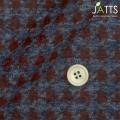 ●レディースサイズオーダージャケット 純綿 エンジ千鳥格子 起毛 【S76SKJ520】