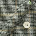 レディースサイズオーダージャケット コットンウール グレー系×ブラウン千鳥格子柄起毛 【S76SKJ7A2】